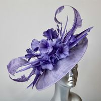 Ann Balon Fiordaliso Colour Wedding Hat - 14809/SD693